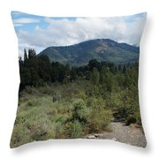 Water-carved Base Rock And Mt Baldy Throw Pillow