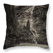 Water Cascade Along The Animas River Colorado Dsc07657 Throw Pillow