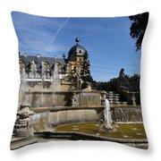 Water Cascade Palace Seehof Throw Pillow