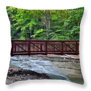 Water Cascade Throw Pillow