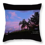 Water Colored Sky Throw Pillow