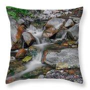Water Coloured Rocks Throw Pillow