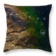 Water Crater Throw Pillow