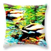 So Water Dance Is For Dancing Ducks  Throw Pillow