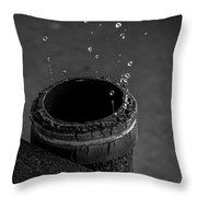 Water Dripping Up The Spout Throw Pillow