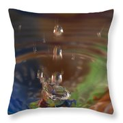 Water Drop Abstract 5 Throw Pillow