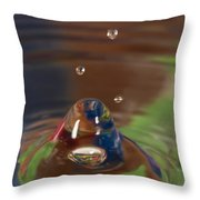 Water Drop Abstract 6 Throw Pillow