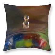 Water Drop Abstract 7 Throw Pillow