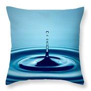 Water Drop Splash Throw Pillow by Johan Swanepoel
