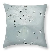 Water Drop Splash Throw Pillow