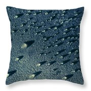 Water Droplets Close-up View  Throw Pillow