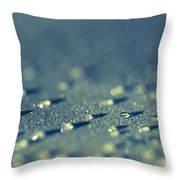 Water Droplets Close-up View On Plastic Chair Throw Pillow