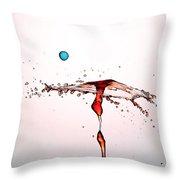 Water Droplets Collision Liquid Art 11 Throw Pillow