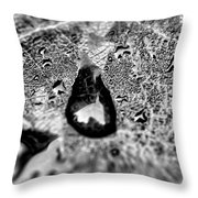 Water Droplets On A Sheet Throw Pillow