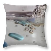 Water Drops Abstract 5 Throw Pillow