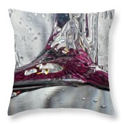 Water Drops Abstract3 Throw Pillow
