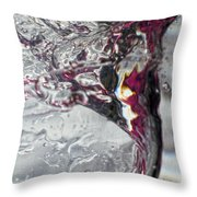 Water Drops Abstract4 Throw Pillow