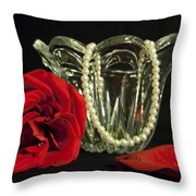 Water Drops And Glass Throw Pillow