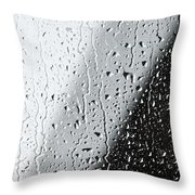 Water Drops On A Window Throw Pillow