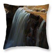 Water Fall At Seven Falls Throw Pillow by Robert D  Brozek
