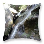 Water Fall In Hocking Hills Throw Pillow