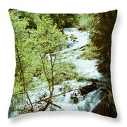water fall Lolo pass 2 Throw Pillow