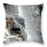 Water Fall Off Mt. Wilson Colorado Throw Pillow