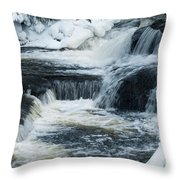 Water Fall On The River Throw Pillow