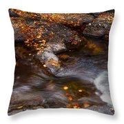 Water Flow Through The Boulders. Eureka. Mauritius Throw Pillow