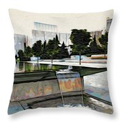 Water Flows At The Barnes Throw Pillow