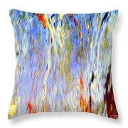 Water Fountain Abstract #30 Throw Pillow