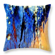 Water Fountain Abstract31 Throw Pillow