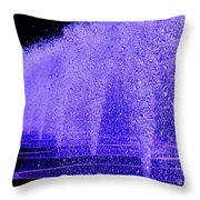 Water Fountain Throw Pillow