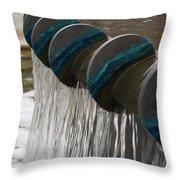 Water Fountain Natural Art In Progress Throw Pillow
