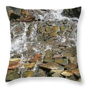 Water From A Stone Throw Pillow