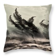Water Fronds Throw Pillow