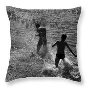 Water Game Throw Pillow