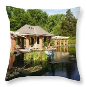 Water Garden Serenity Throw Pillow