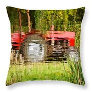 Water Gardening Throw Pillow
