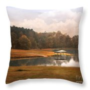 Water Gazebo Throw Pillow