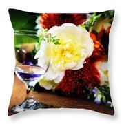 Water Goblet Throw Pillow