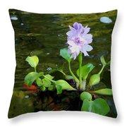 Water Hyacinth Float Throw Pillow