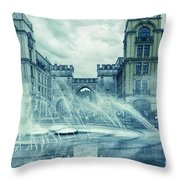 Water In The City Throw Pillow