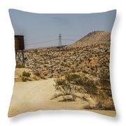 Water In The Desert Throw Pillow