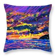 Water Island Sunset Throw Pillow