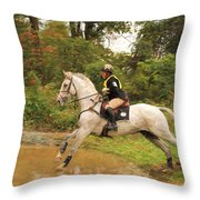 Water Jumper Throw Pillow
