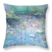 Water Landscape Throw Pillow