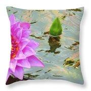 Water Lilies 001 Throw Pillow