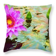 Water Lilies 002 Throw Pillow