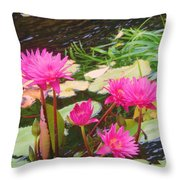 Water Lilies 009 Throw Pillow